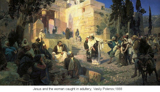 Jesus and the Woman in Adultery, by Vasily Polenov