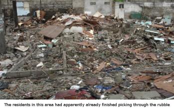 demolition rubble in manila