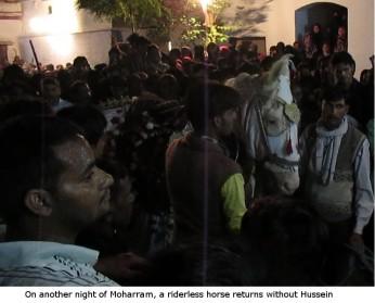 riderless horse returns without Hussein on Moharram Muharram