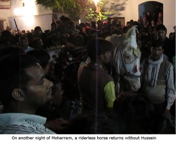 riderless horse returns without Hussein on Moharram Muharram