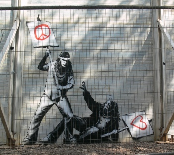 banksy peace versus love