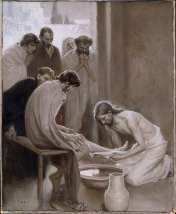 Jesus Washing the Feet of his Disciples (Albert Edelfelt)