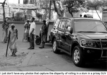 SUV and poverty in Chittagong, Bangladesh