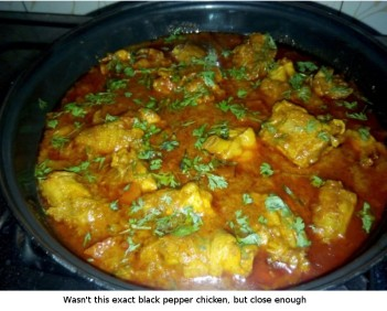 A typical style of North Indian chicken curry
