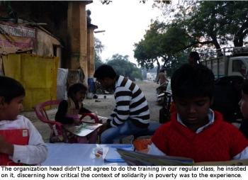 teaching in the slum