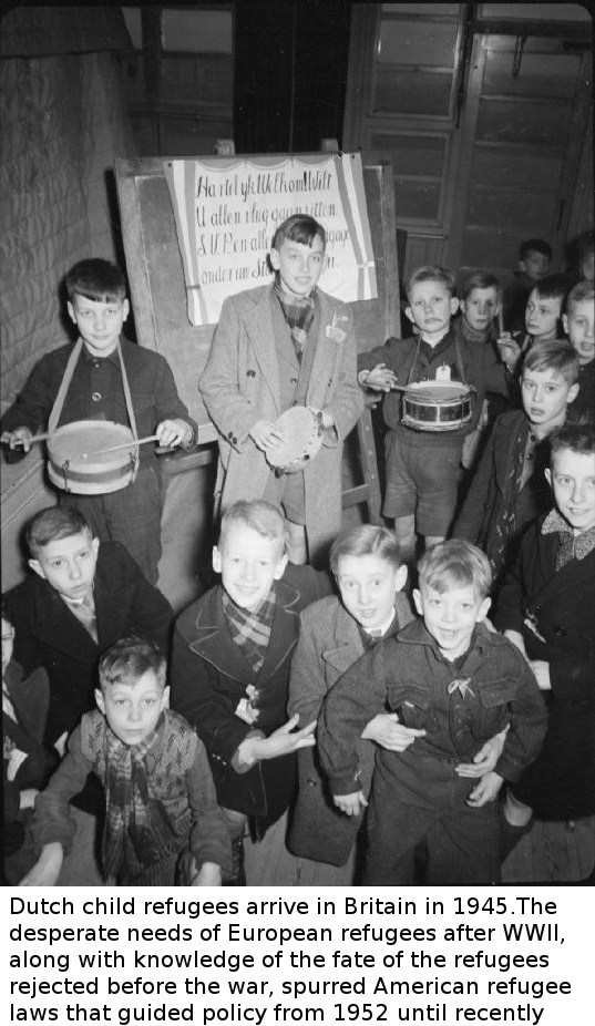Dutch child refugees arrive in Britain in 1945 World War II