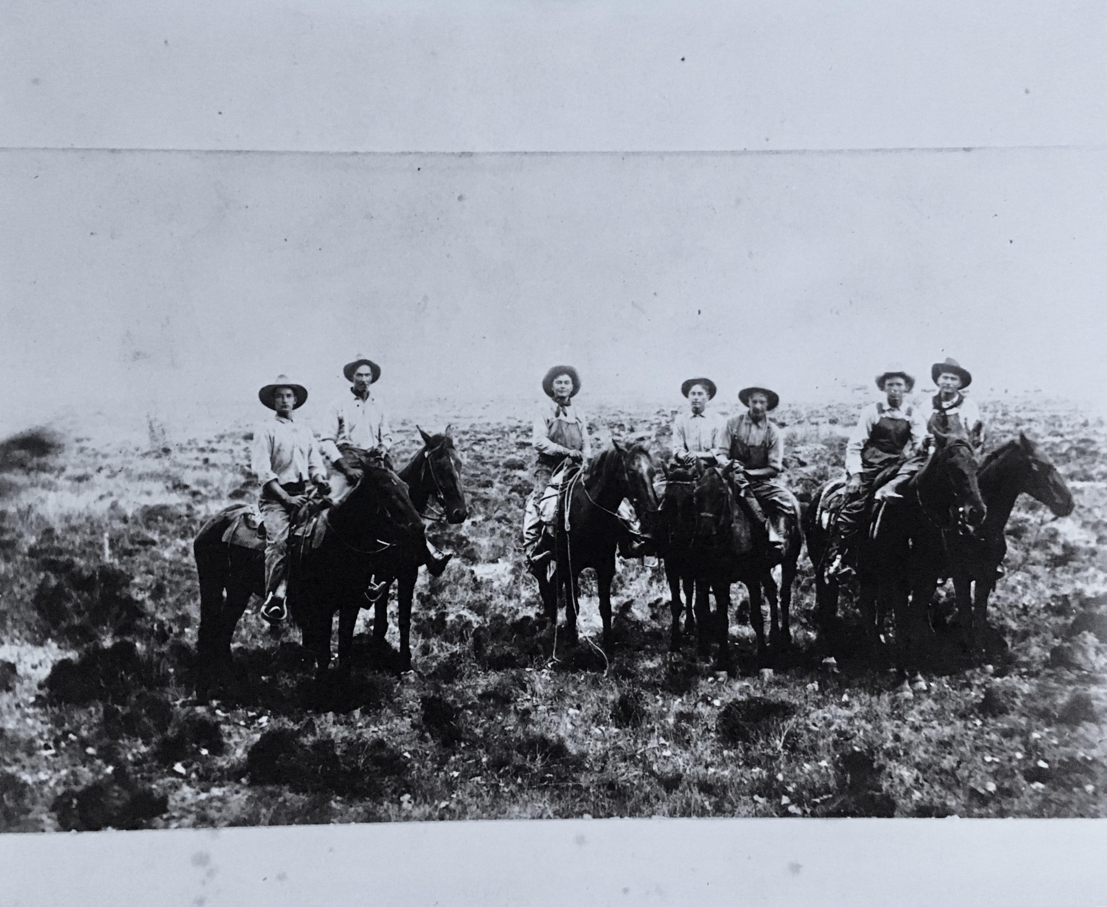 The Caffall brothers and friends in Dexter, New Mexico in 1905