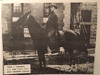 Sergeant Frank Zabrowski, medic serving in US Army in World War I in 1917