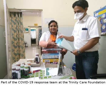 COVID-19 response team trained by Trinity Care Foundation